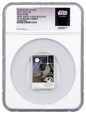2017 Niue Star Wars New Hope 40th Anv Poster 1 oz Silver NGC PF70 UC ER SKU48510