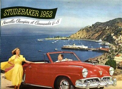 The NEW 1952 Studebaker Brochure Great Color Pictures All Models