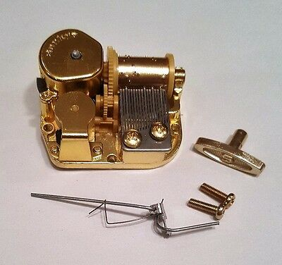 "Sankyo 18 Note Music Box Movement With Reuge Wire Stopper-""Tiny Bubbles"""