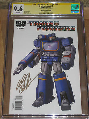 Transformers #17 CVR RI 1:10 Variant CGC 9.6 SS Signed by Alex Milne IDW