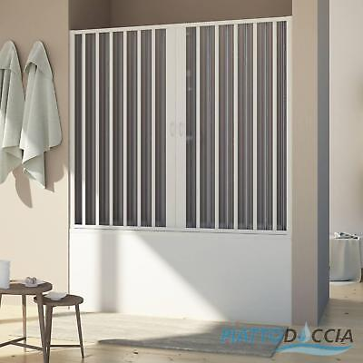 Bath Screen For Niche Shower Door Pvc Folding Panel 1400 Mm From H1500