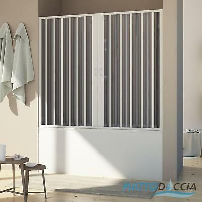 Bath Screen For Niche Shower Door Pvc Folding Panel 1700 Mm From H1500