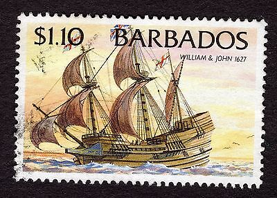 1994 Barbados $1.10 Ships William and John 1627 SG1086 FINE USED R32583