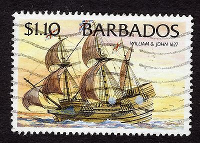1994 Barbados $1.10 Ships William and John 1627 SG1086 GOOD USED R32588