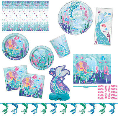 Magical Mermaid Children's Birthday Party Supplies Napkins Balloon Listing