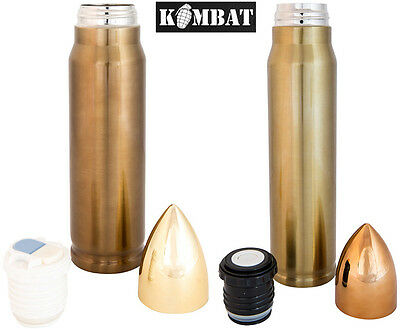 Army Military Bullet Thermos Vacuum Hot Cold Flask 1000ml 500ml Stainless Steel