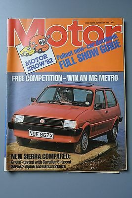 R&L Mag: Motor October 23 1982 Large Motor Show Issue, Ford Sierra Test