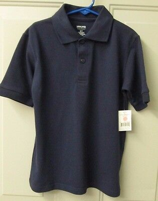 Highland Outfitters School Wear Boys Navy Blue Short Sleeve Top FREE SHIP