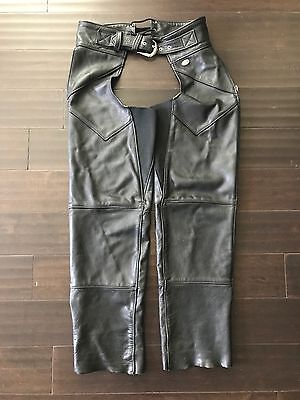 Harley Davidson Women's Leather Chaps Size Medium Adjustable Waist and Thigh