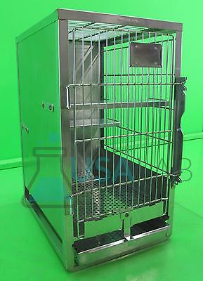 Shor-Line Stainless Steel Veterinary Cat Cage