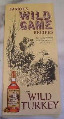 Famous Wild Game Recipes from Wild Turkey Cookbook Booklet