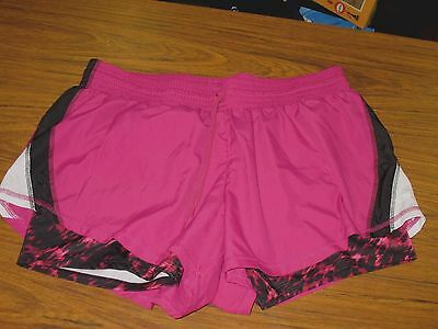 f58e1c7c7f56 CHAMPION Duo Dry Athletic Running Shorts Women s Size XL Red Violet Black  White