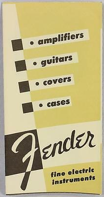 "Fender 1954 Fold Out Electric Guitar Catalog Reprint P/N 0995503001 6.25"" x 3.5"""