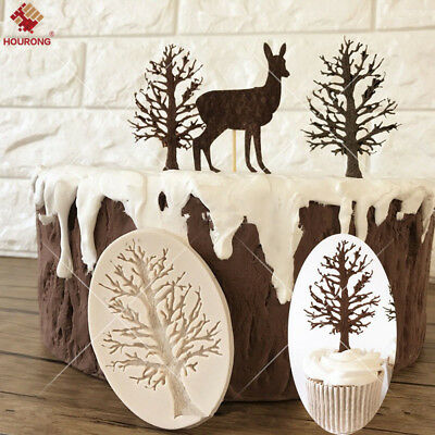 Tree Branch Silicone Fondant Cake Mold Chocolate Baking Pastry Decor Mould DIY