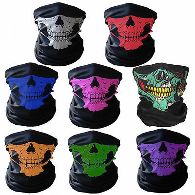Ghost  Biker Skull Mask Halloween Fishing Skeleton Motorcycle Sports Cycling Bmx