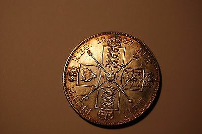 Great Britain 1887 HIGH GRADE Double Florin From 7 Piece Mint SET