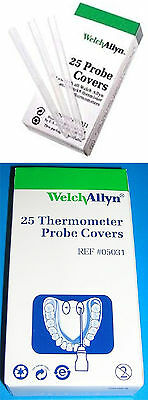 WELCH ALLYN Digital Thermometer Disposable Probe Covers 25 Or 250/BX 05031 M031
