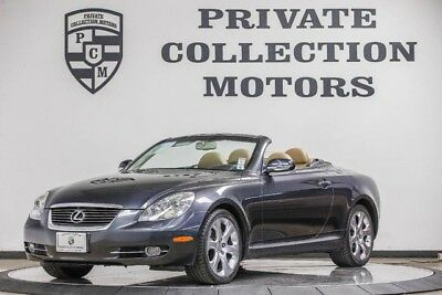 2008 Lexus SC Base Convertible 2-Door 2008 Lexus SC 430 2 Owner CPO Warranty Low Miles Well Kept Clean Carfax