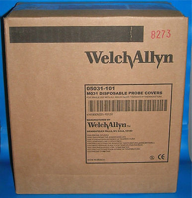 WELCH ALLYN Digital Thermometer Disposable Probe Covers 1000/BX 05031 M031