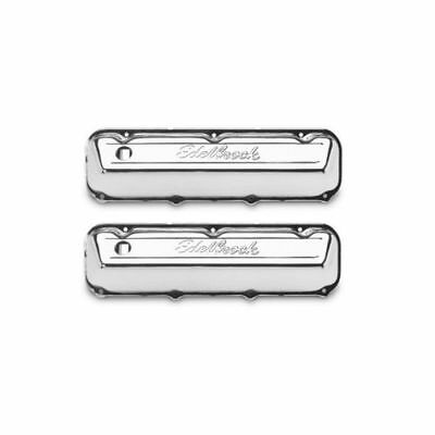 "Edelbrock 4463 Signature Valve Covers 3.6"" Chrome For Ford 429-460"