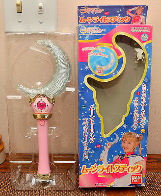 Sailor Moon Crescent Moon wand Moonlight stick rod scepter Bandai 2003 Japanese