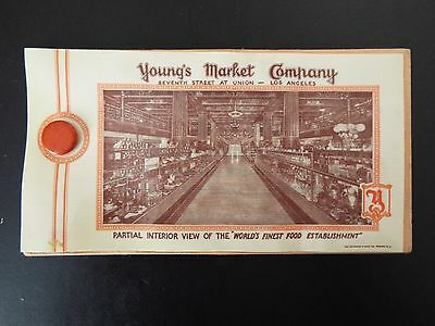 "Young Market Company ""Worlds Finest Food Establishment"" Celluloid Ad and Blotter"