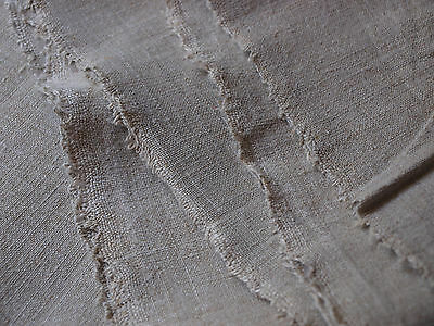 Yardage Antique HandWoven Linen Flax Homespun Vintage Fabric Natural Material