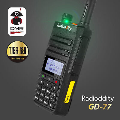 Radioddity GD-77 Dual Band Dual Time Slot DMR Digital Analog Walkie Talkie Cable