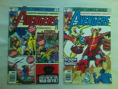 The Avengers issues #197 & 198 comic book lot(Marvel,1980)