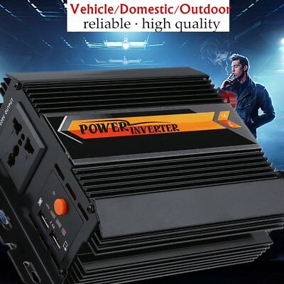 Power Inverter 1500W / 3000W Surge Power Car Caravan Boat 12V-240V USB Output AU