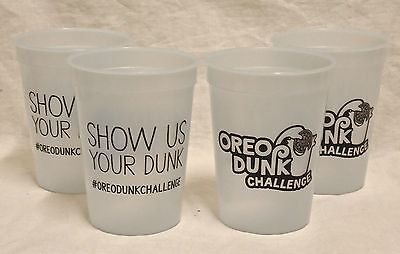 Set of 4 Color Changing Oreo Dunk Challenge Plastic Cups. Show Us Your Dunk.