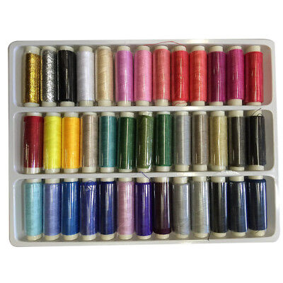 39 Assorted Color 200 Yards Per Unit Soft Polyester Sewing Thread Spool Set