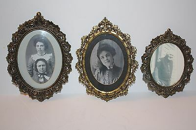 Set of 3 Antique Picture Frames Made in Italy