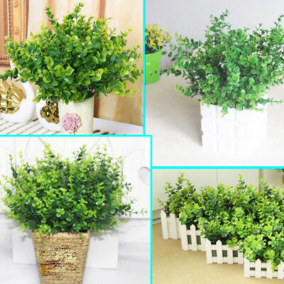 1 Bouquet Small Leaves Plant Green Artificial Eucalyptus Grass Home Decor Flower