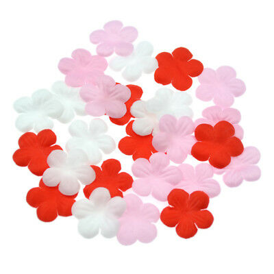 20 Pcs DIY Flower Trim Patchwork Sewing Handcraft Craft Multicolor Water-soluble