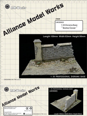 "Alliance Model Works 1:35 Small Resin Diorama Base ""Some Cover"" #LW35003"
