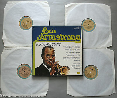 Vinyl LP-Box Louis Armstrong and his All Stars 4 LP Box Joker Jazz Compilation