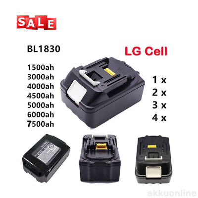 18V Batteria per Makita BL1815 BL1830 BL1840 BL1850 LXT Al litio 1.5ah-7.5ah IT