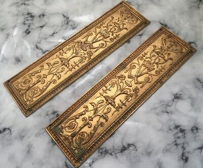 W T & S Victorian Antique Kite Marked RARE Gold Rococo Wall Door Plaques