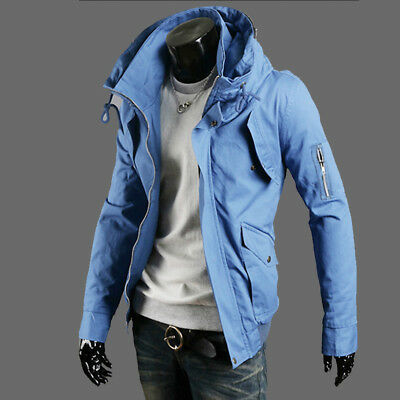 Men's Coat Jacket Winter Slim Hoodie Warm Sweatshirt Outwear Casual Tops fashion