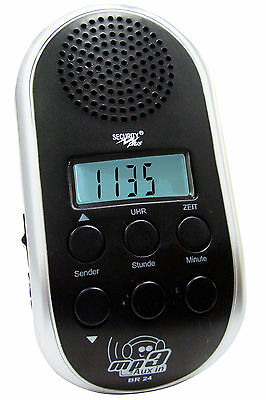 Security Plus Fahrradradio BR 24 MP3 Player Anschluss Fahrrad Radio LED