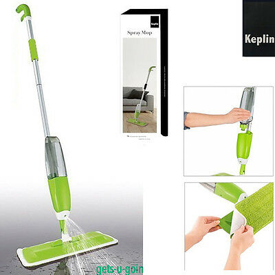 KEPLIN Spray Mop Water Spraying Floor Cleaner Tiles/Marble Easy Microfibre Clean