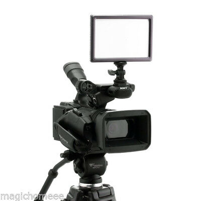 LED Dimmbar Videoleuchte Kamera Video Licht Panel für Canon Nikon DSLR Camcorder