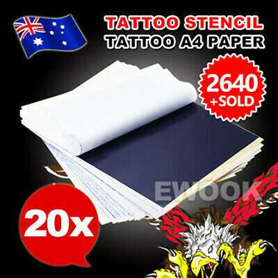 20pcs Tattoo Stencil Transfer Paper Spirit Thermal Carbon Tracing Copier Kit