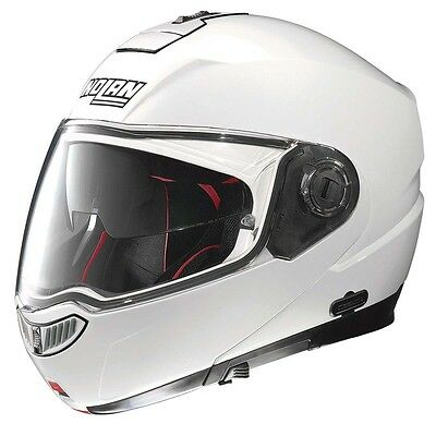 Nolan N104 Absolute Classic Metal White Motorcycle Flip Front Helmet All Sizes