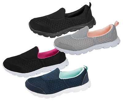 Boys Girls Slip On Memory Foam Trainers Comfort Sports Lightweight Walk Pumps