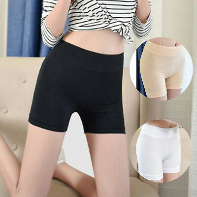 Women Elastic Safety Ice Silk Under Shorts Pants Leggings Render Size 16-18