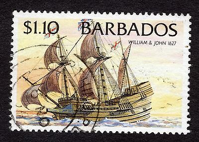 1994 Barbados $1.10 Ships William and John 1627 SG1086 FINE USED R32586