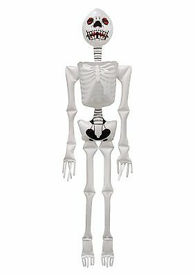 Halloween Spooky Horror Skeleton Inflatable Decoration White 183cm Tall