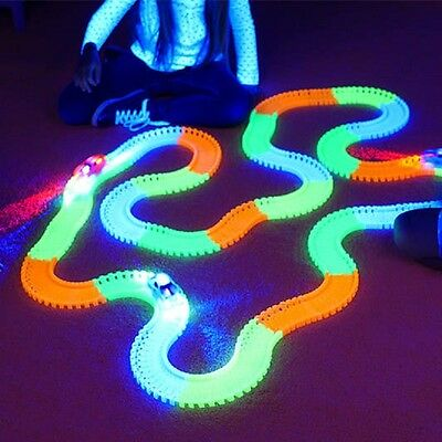 MAGIC TRACKS Glow in the Dark RACE CAR Bend Flex Racetrack  LIGHT UP Plus Car